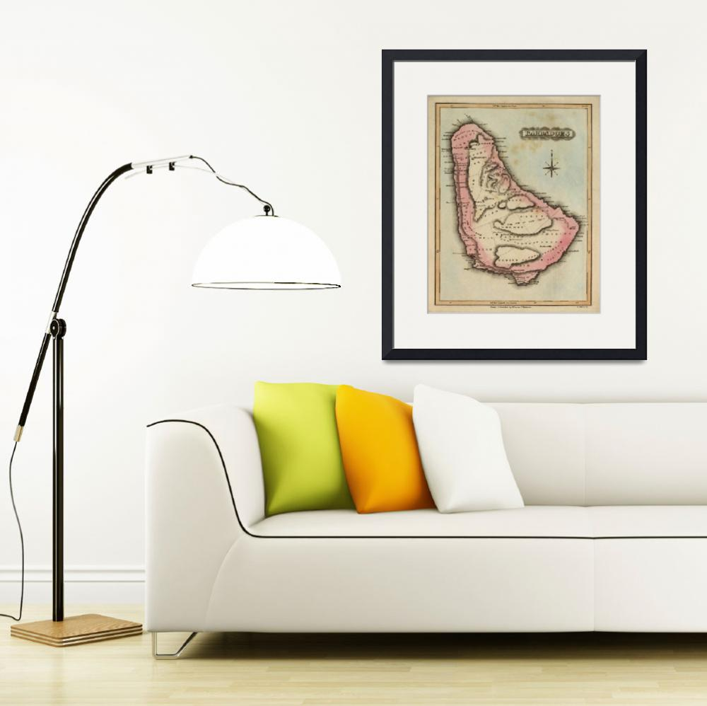 """Vintage Map of Barbados (1823)""  by Alleycatshirts"