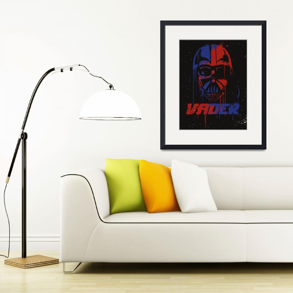 """Spray style darth vader art print&quot  (2017) by goldenplanetprints"