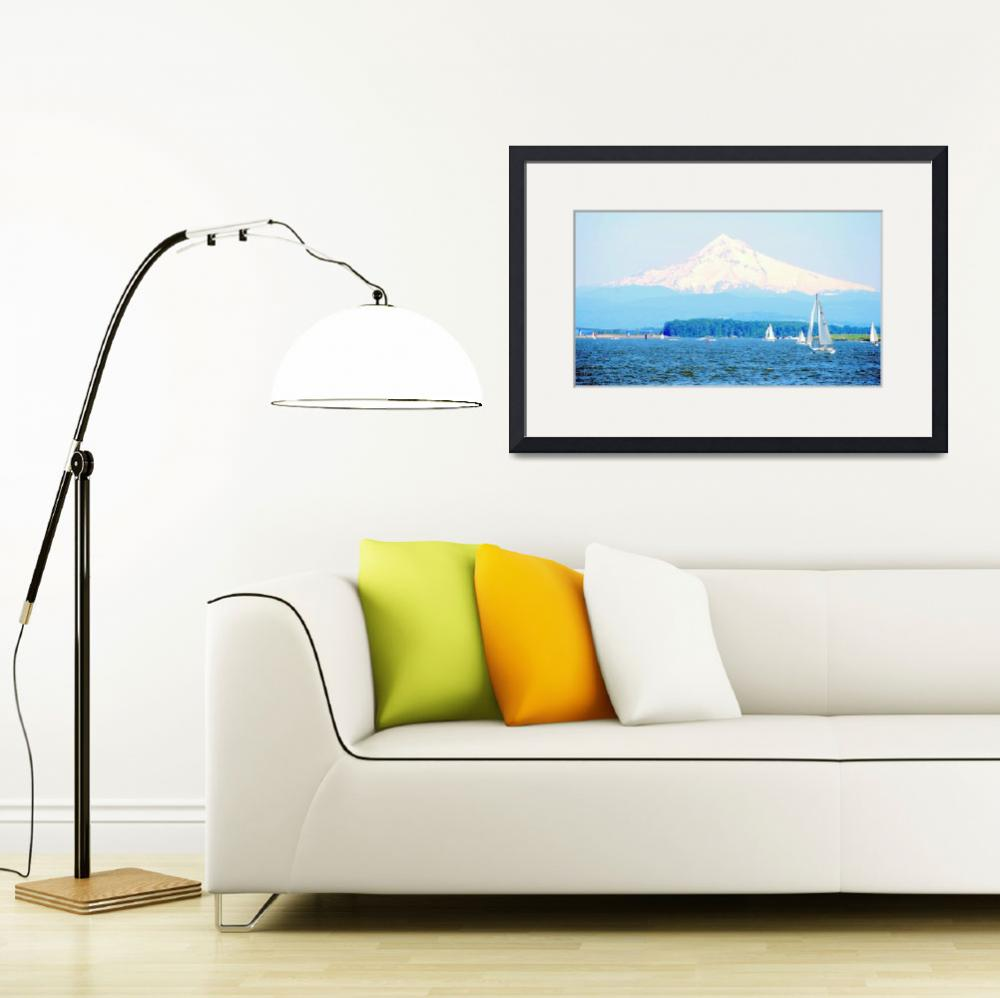 """""""Mt Hood  from The Columbia River&quot  by barbsummering"""
