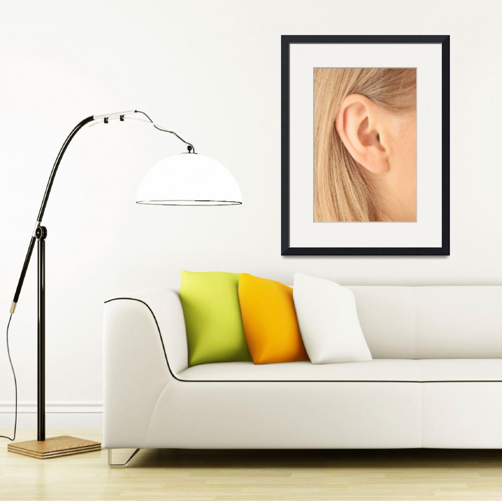 """""""Color closeup picture of blond girl ear&quot  (2009) by Piotr_Marcinski"""