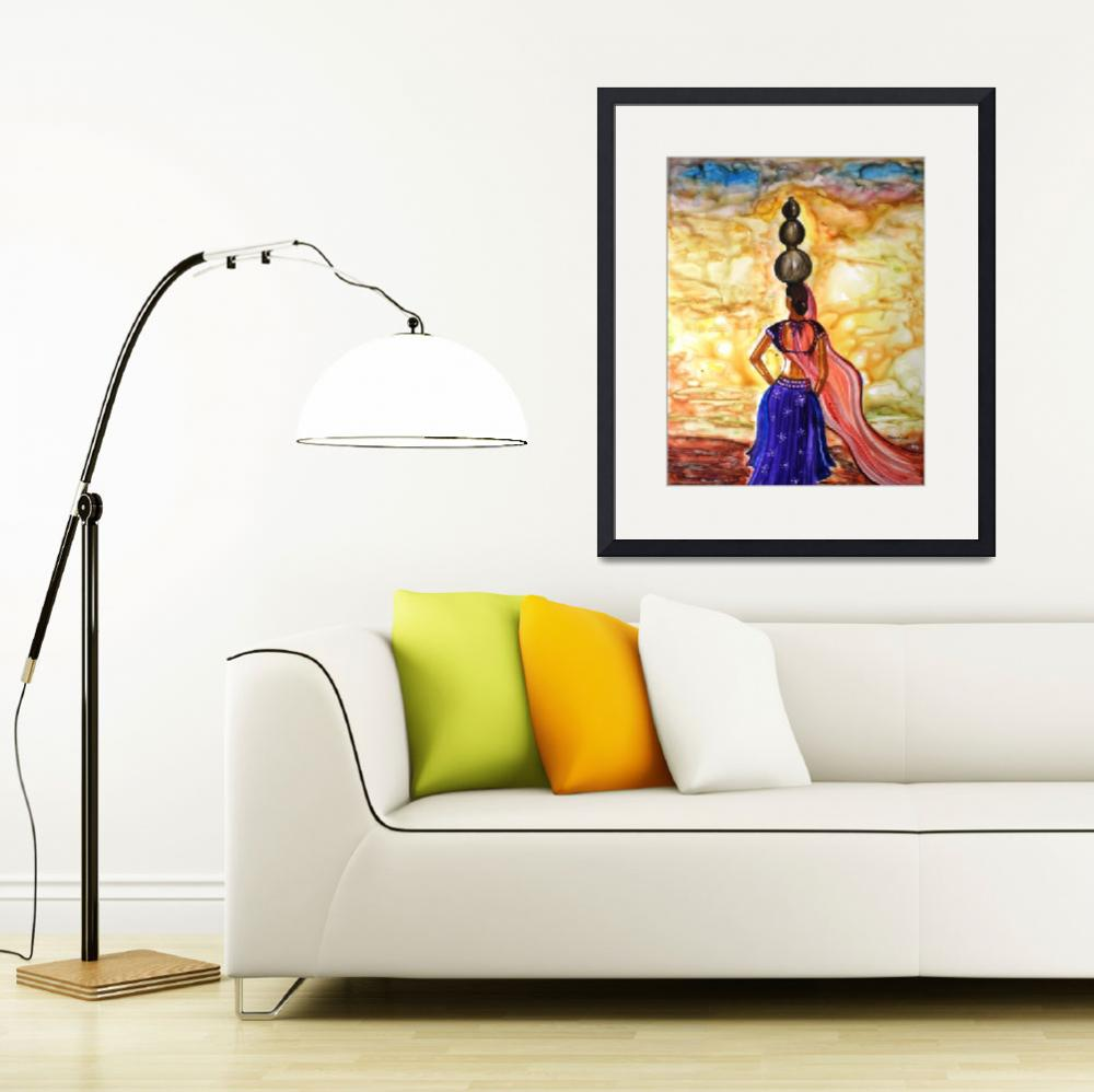 """Rajasthani Lady -Allure""  (2010) by mkanvinde"
