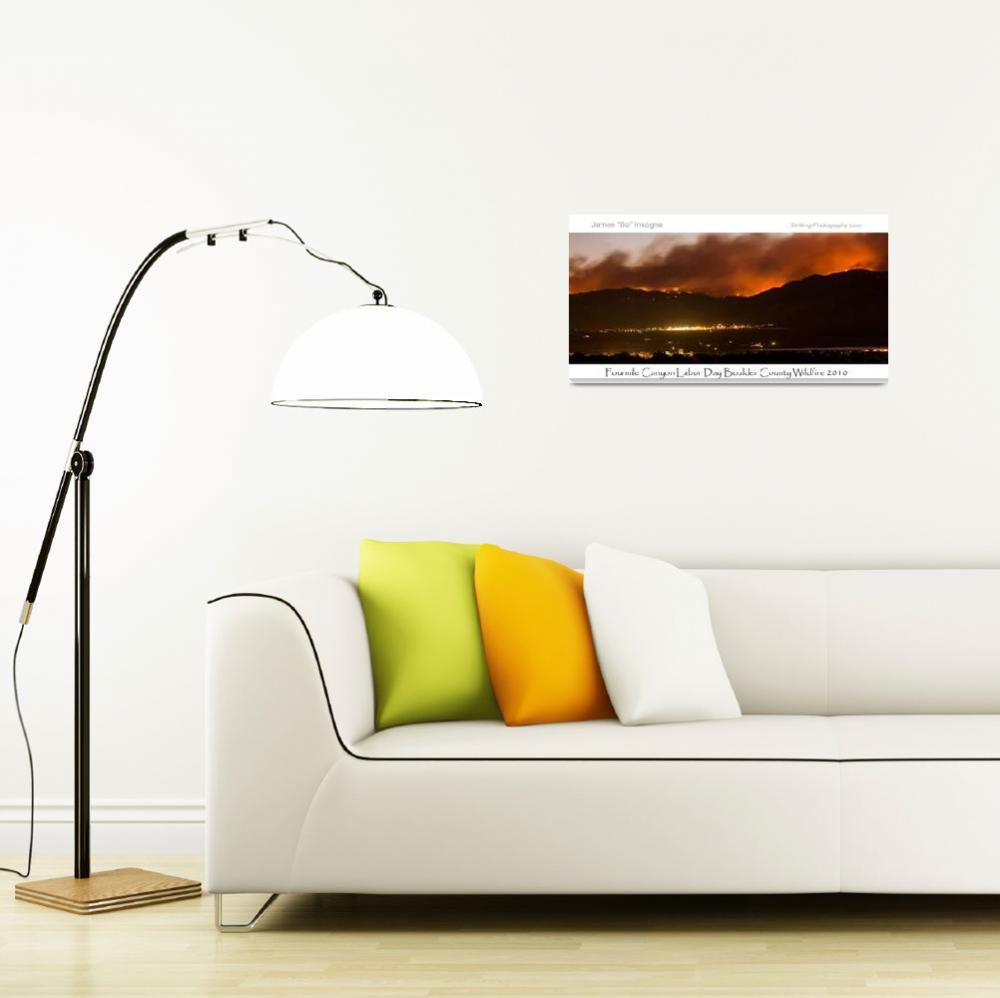 """""""Boulder County Fourmile Wildfire Panorama Poster&quot  (2010) by lightningman"""