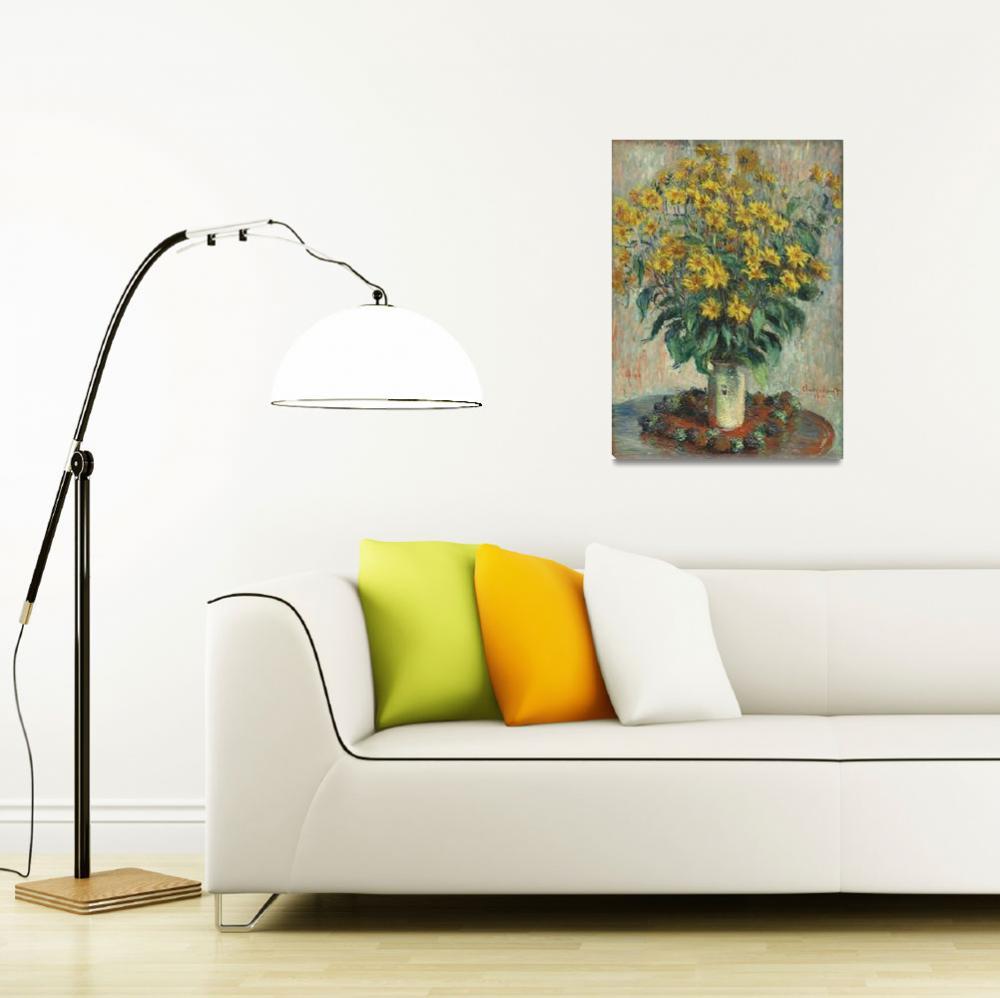 """""""Jerusalem Artichoke Flowers by Claude Monet""""  by FineArtClassics"""