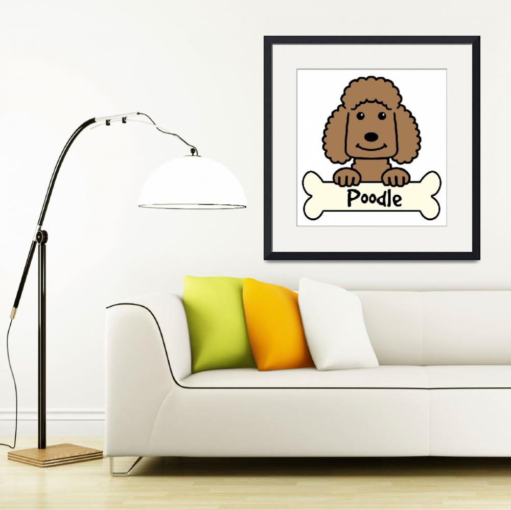 """""""Chocolate Poodle&quot  (2010) by AnitaValle"""