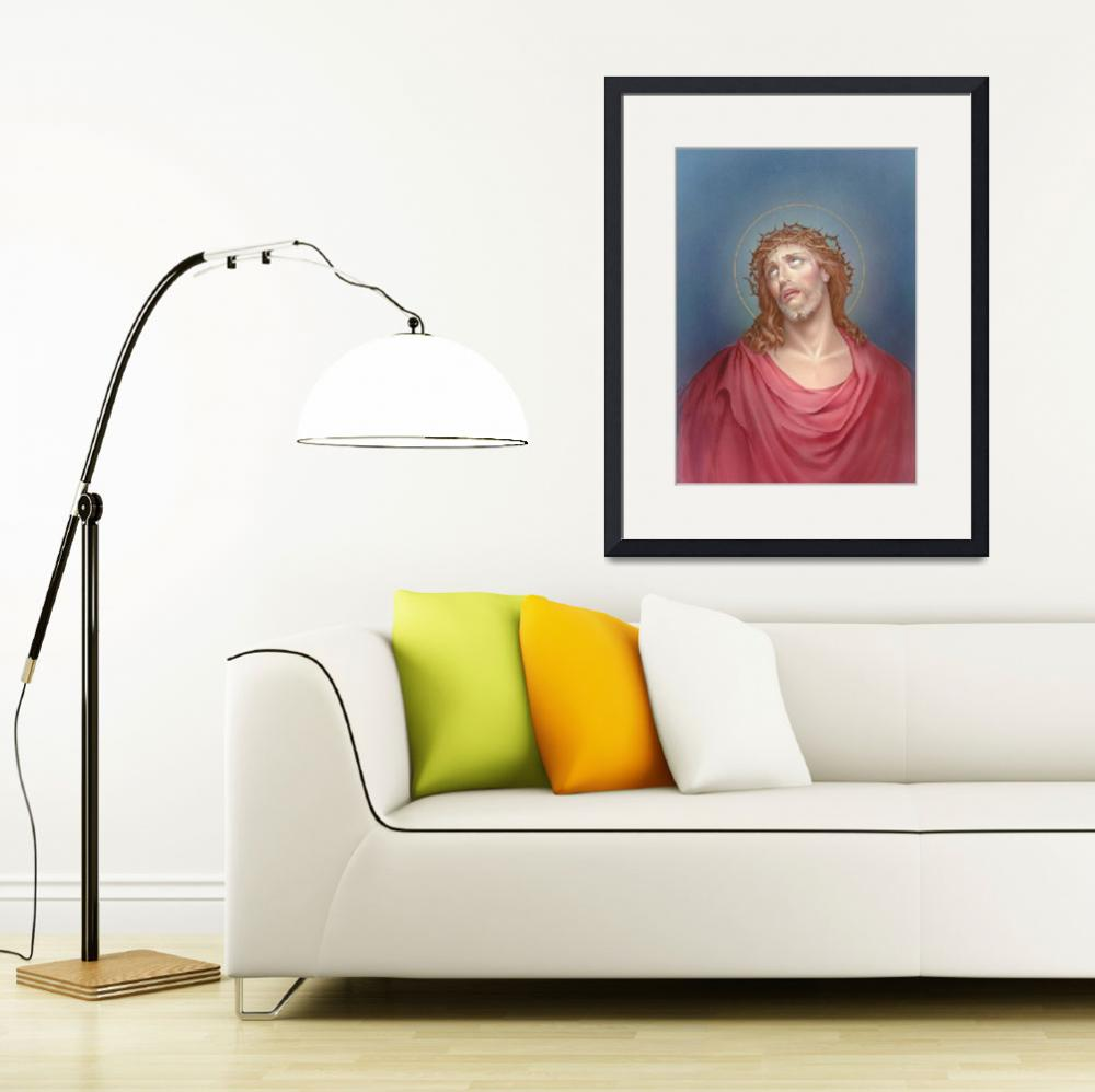 """""""Jesus with a crown of thorns&quot  by artlicensing"""