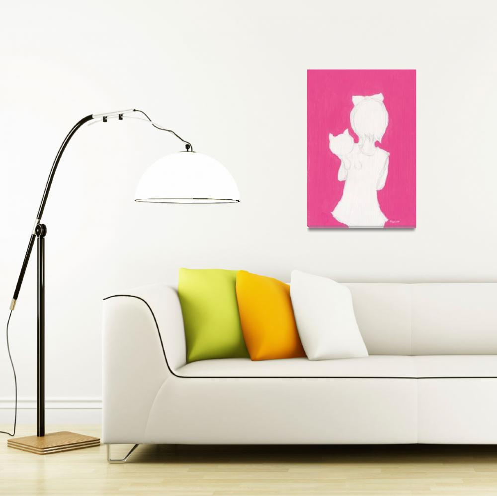 """""""Pink_Girl_Cat""""  (2013) by francisfung"""