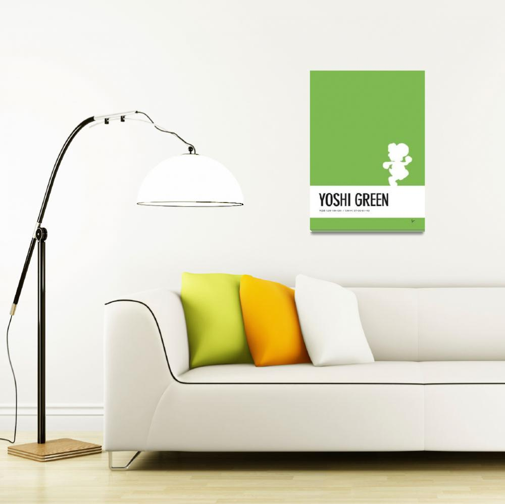 """No36 My Minimal Color Code poster Yoshi&quot  by Chungkong"