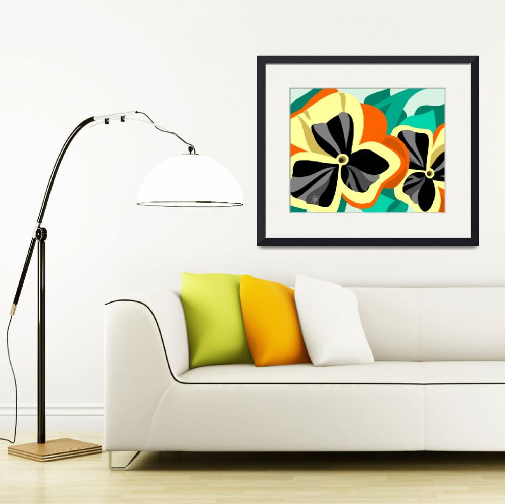 """""""Yellow Pansies&quot  by waterart"""