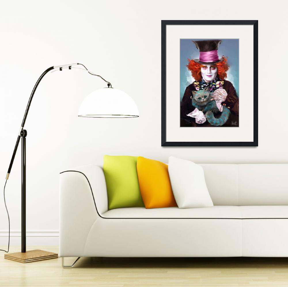 """""""Mad Hatter and Cheshire Cat&quot  (2016) by MelanieD"""