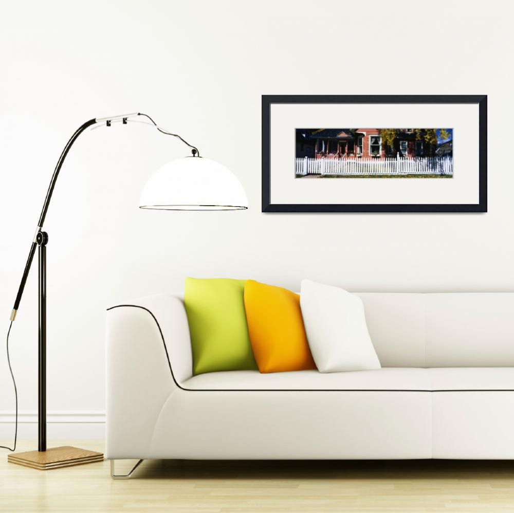 """""""House with White Picket Fence Silverton CO&quot  by Panoramic_Images"""