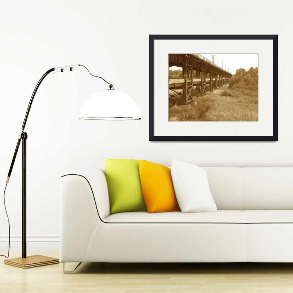 """""""Oliver Bridge-Oil Painting Print""""  (2009) by DuluthPrints"""