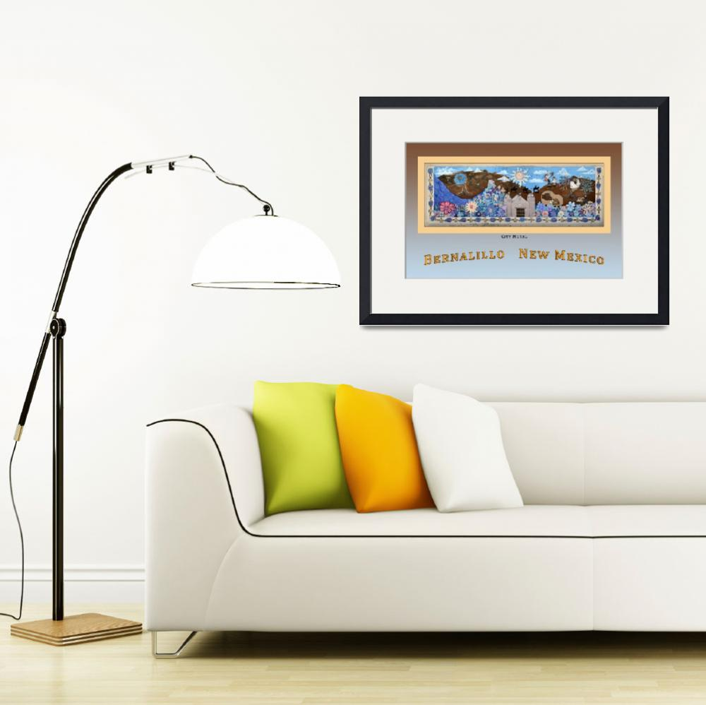 """Poster of City Mural (Photo) Bernalillo New Mexico&quot  by Wilford"