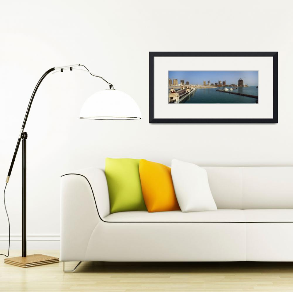 """""""City at the waterfront The Pearl Qatar Doha Ad Da&quot  by Panoramic_Images"""