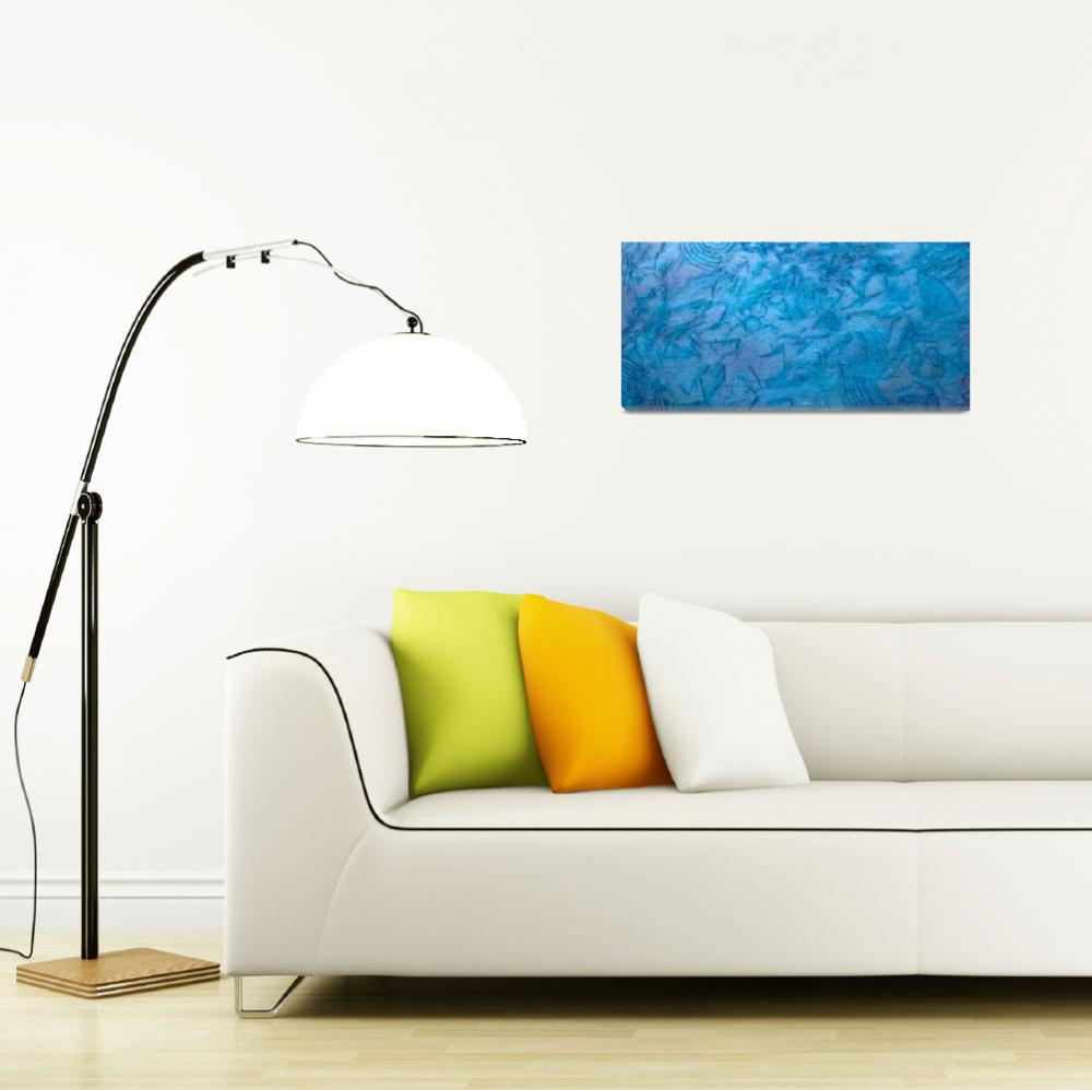 """""""Turquoise and Blue Abstract 2&quot  by LittleArtsyShop"""