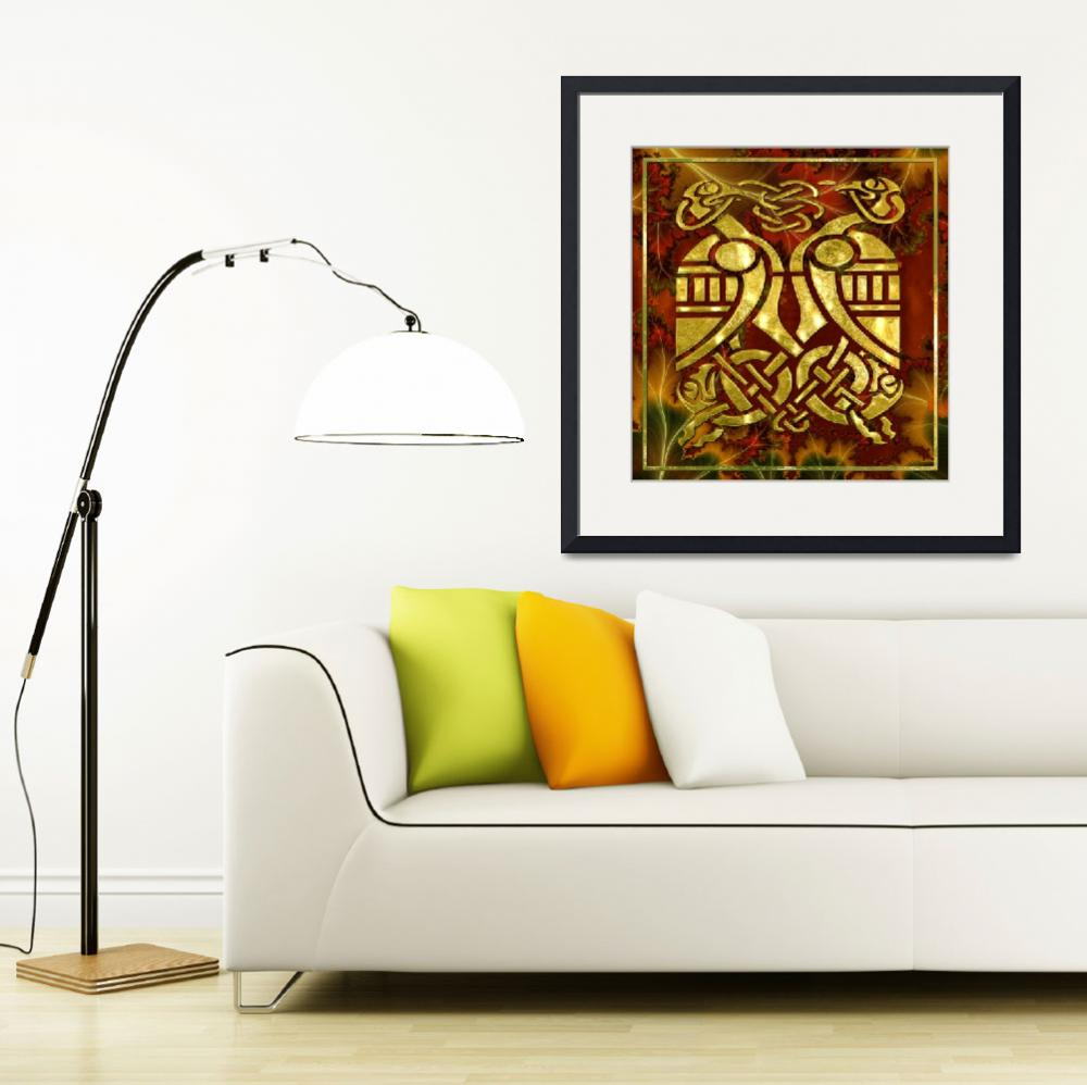 """""""Celtic Organica Fractal & Golden Chrome&quot  (2011) by ReneeLozenGraphics"""