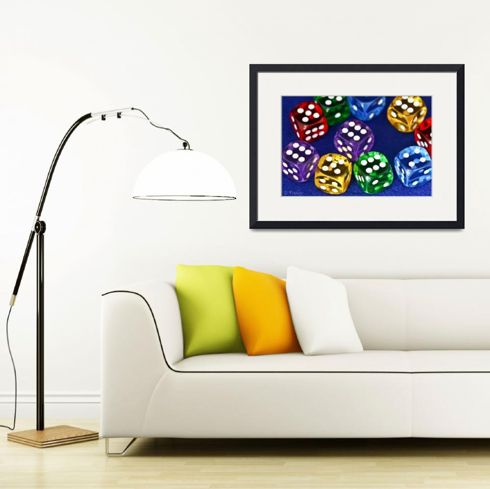 """Multi Color Dice""  (2012) by Tracy2912"