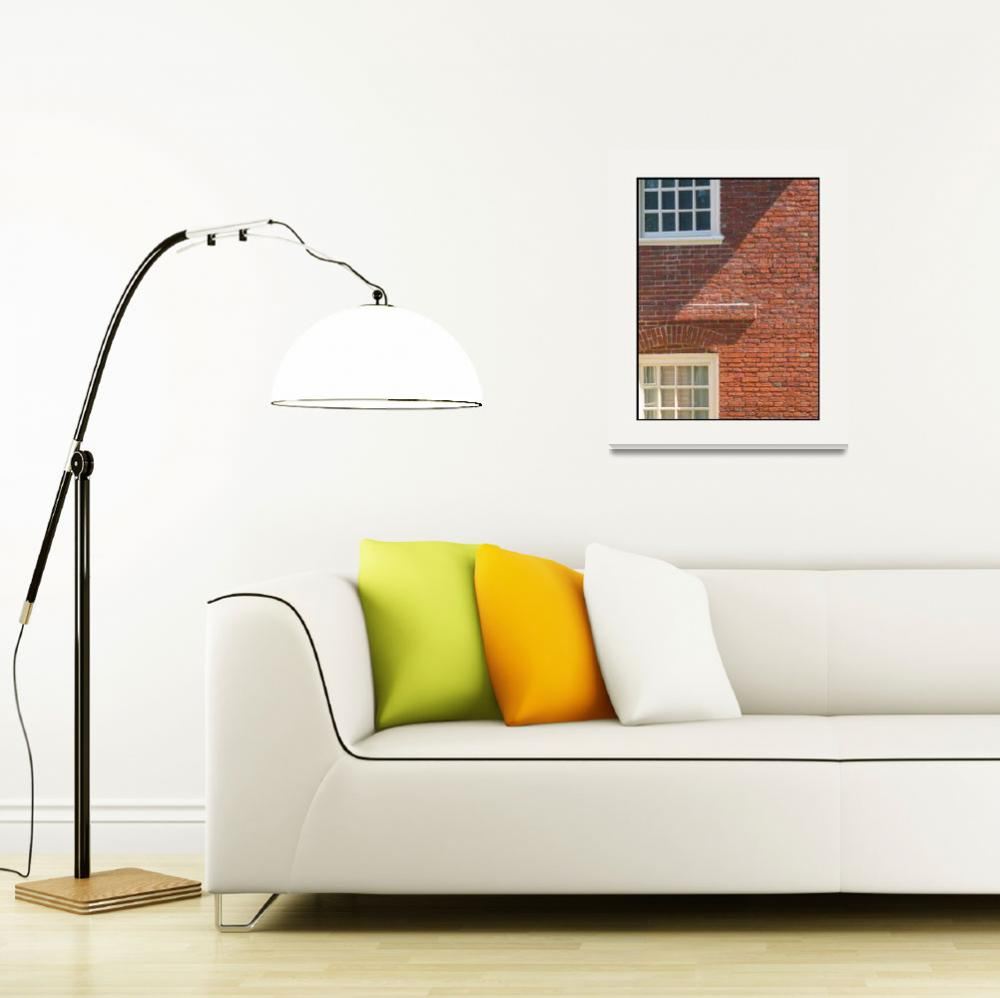 """""""Historic Brick Wall Shadows&quot  (2011) by CuriousEye"""