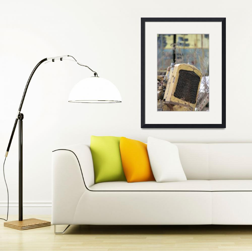 """""""Old yellow radiator&quot  by alanlemire"""
