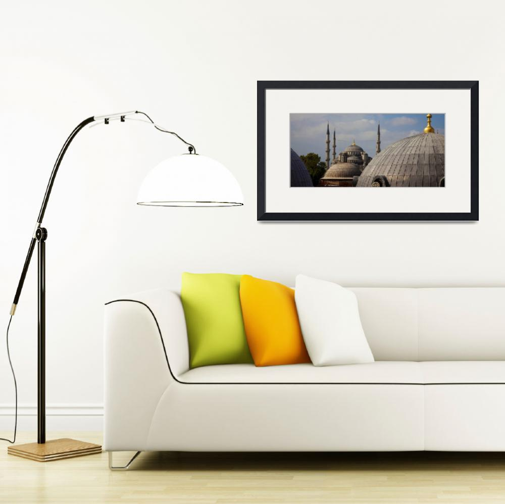 """""""Blue Mosque From Hagia Sophia&quot  by paulwnashphotography"""