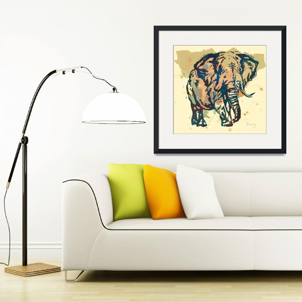 """""""Eehpant Wild Animal Stylised Pop Art  Poster&quot  (2014) by visualharbour"""
