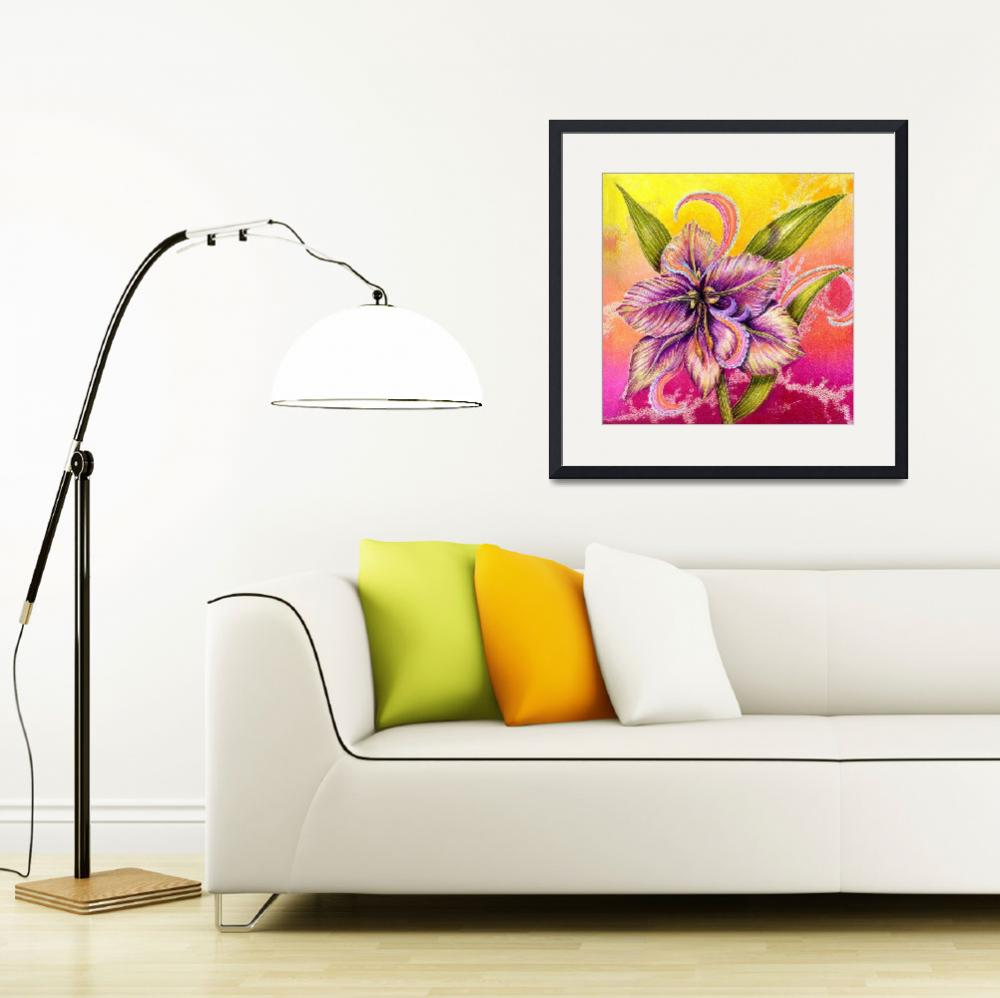 """""""The Paisley Amaryllis""""  (2009) by AlmaLee"""