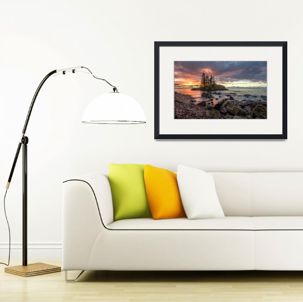 """""""Lake Superior Sunrise update for print""""  by pauldomsten"""