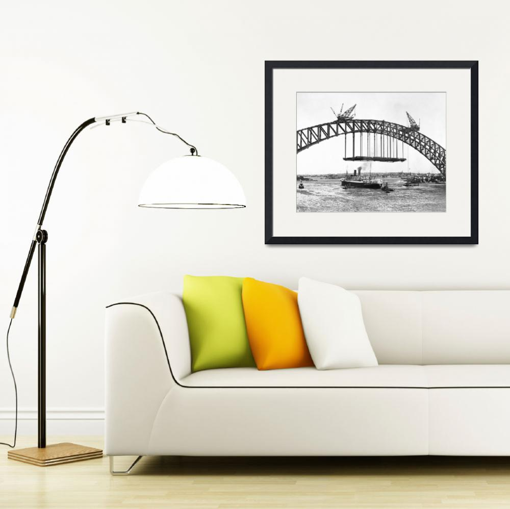 """Harbour Bridge&quot  by RetroImagesArchive"
