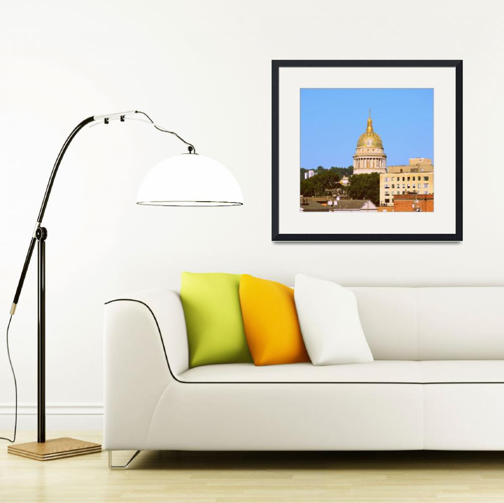 """Charleston, WV Capital Dome and Buildings&quot  by Artsart"