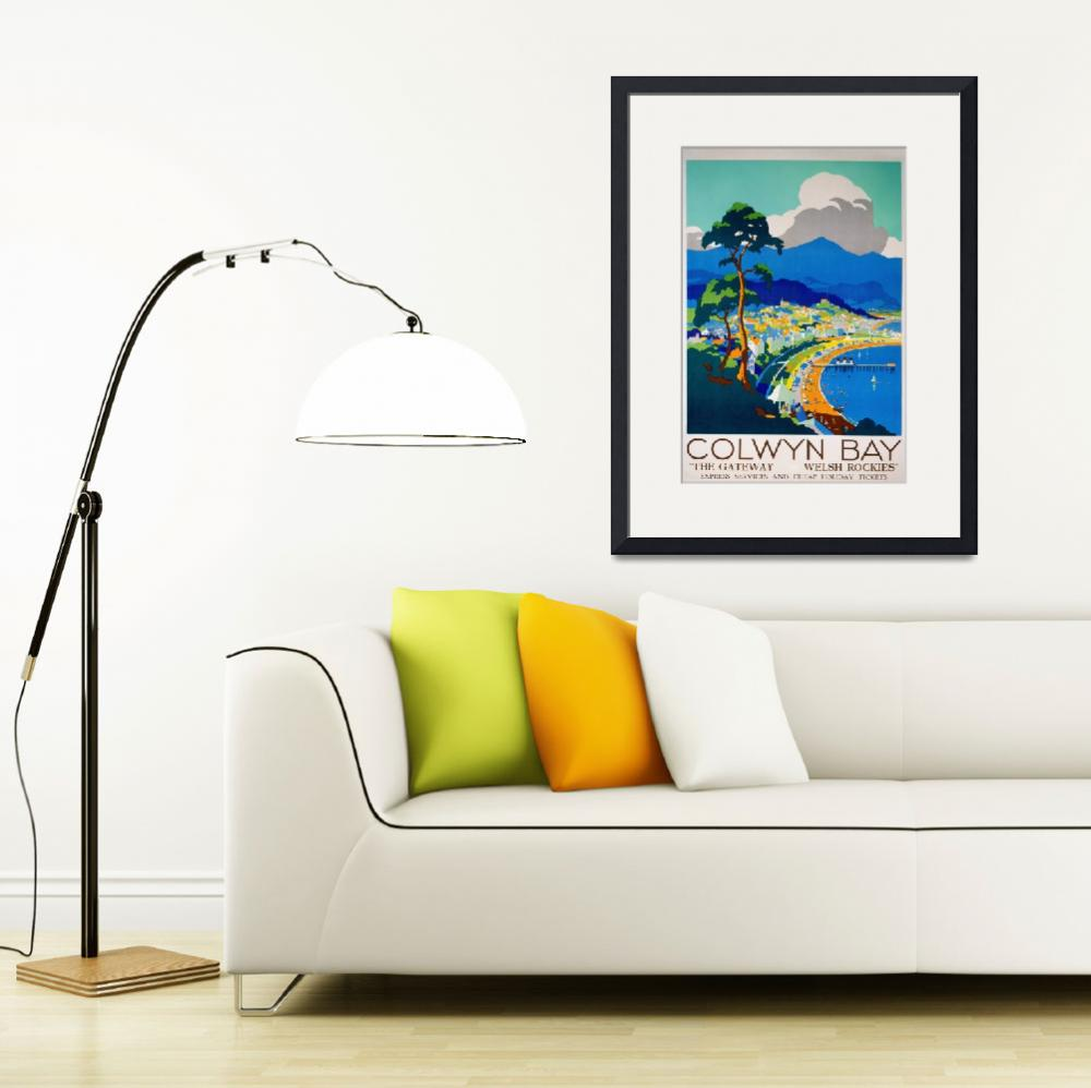 """""""Colwyn Bay, Wales Vintage Travel Poster""""  by FineArtClassics"""