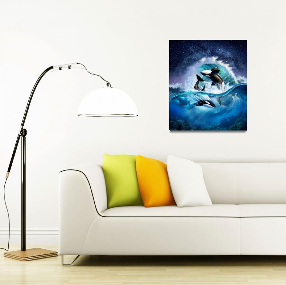 """Orca Wave""  (2016) by jerrylofaro59"