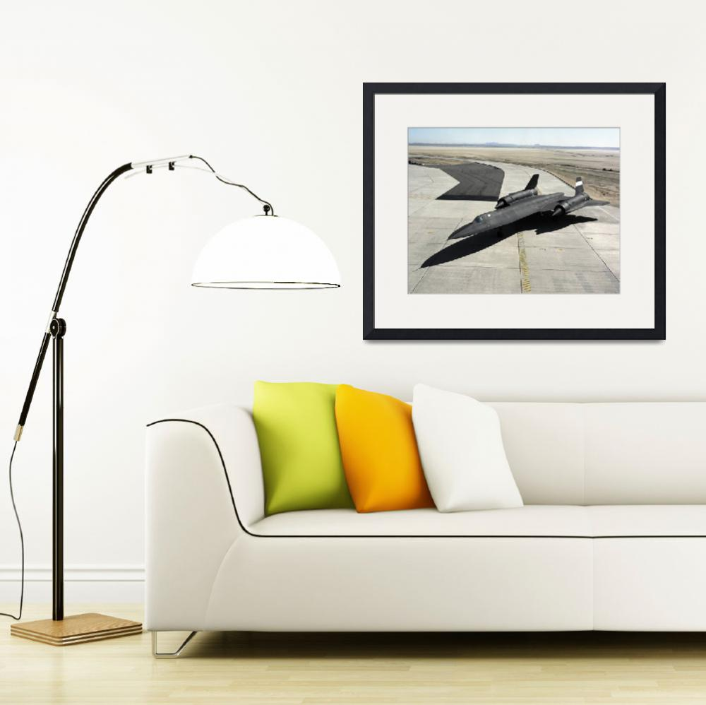 """""""High angle view of a SR 71A Blackbird&quot  by stocktrekimages"""