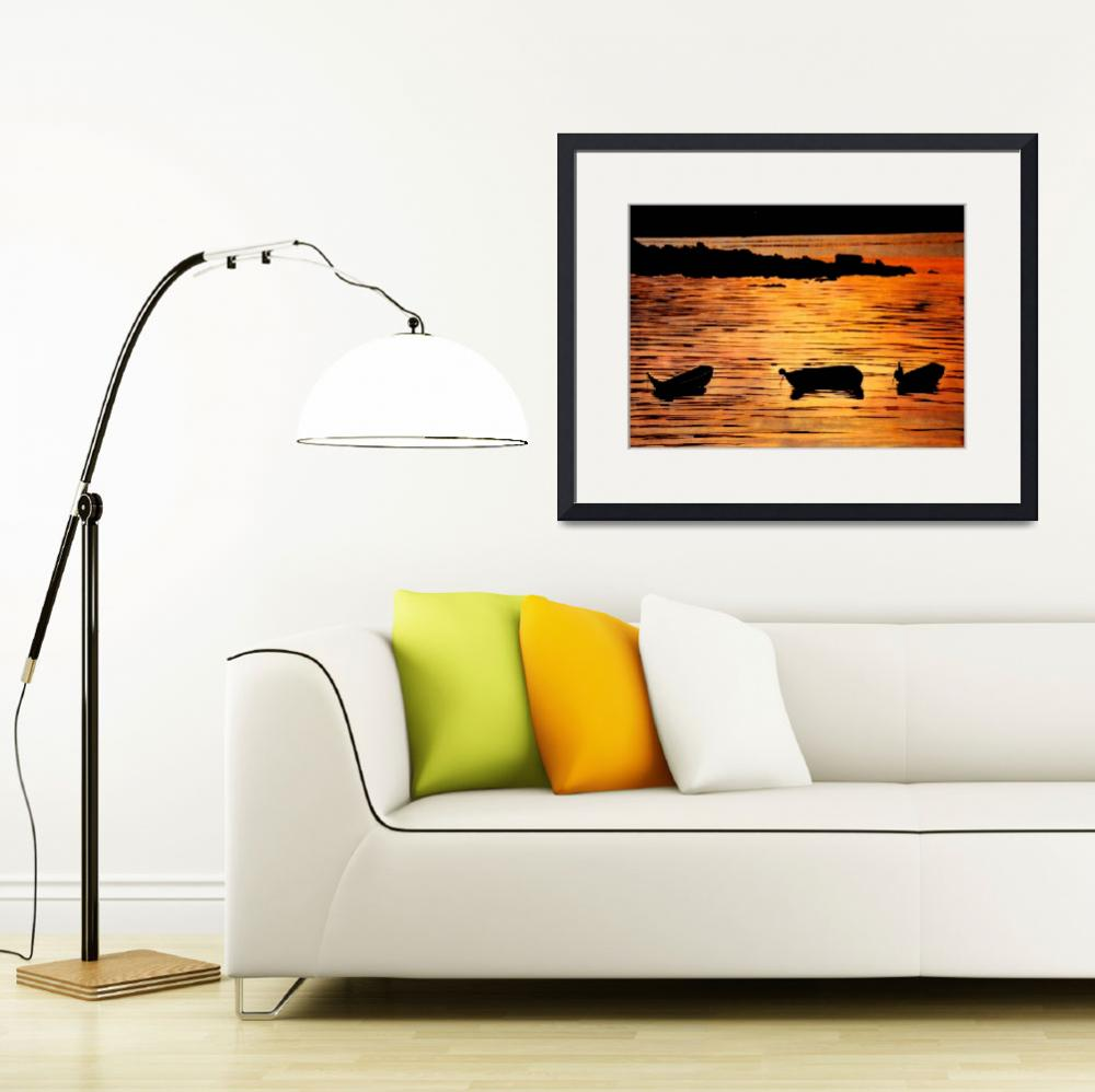"""""""Mid Night Boat&quot  by cneartgallery"""