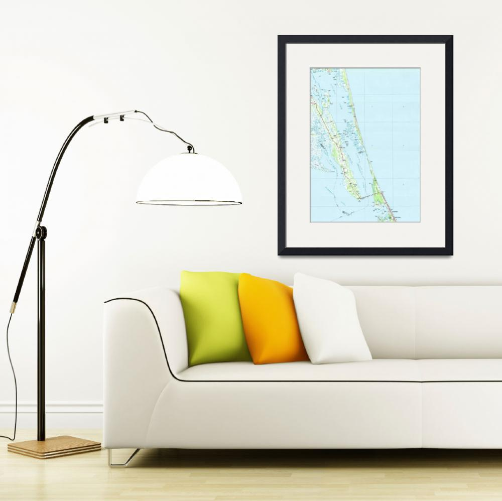 """Northern Outer Banks North Carolina Map (1985)&quot  by Alleycatshirts"