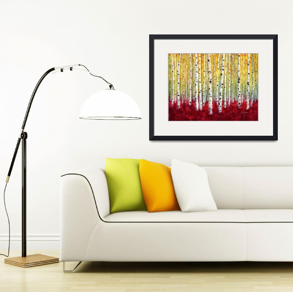 """""""Silver Birches&quot  (2015) by HaileyWatermedia"""