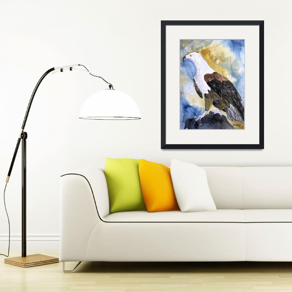 """patriotic eagle bird art prints&quot  (2008) by derekmccrea"