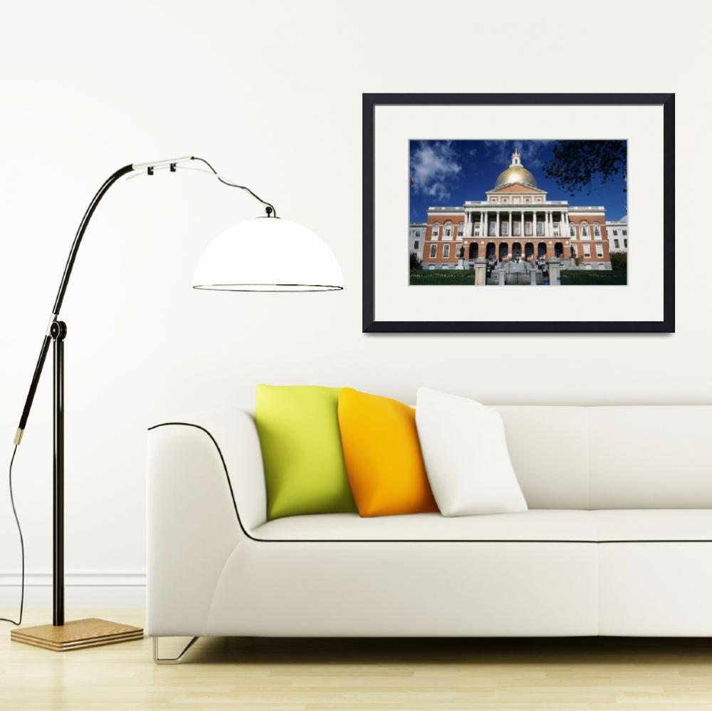 """State Capitol Building Beacon Hill Boston MA&quot  by Panoramic_Images"