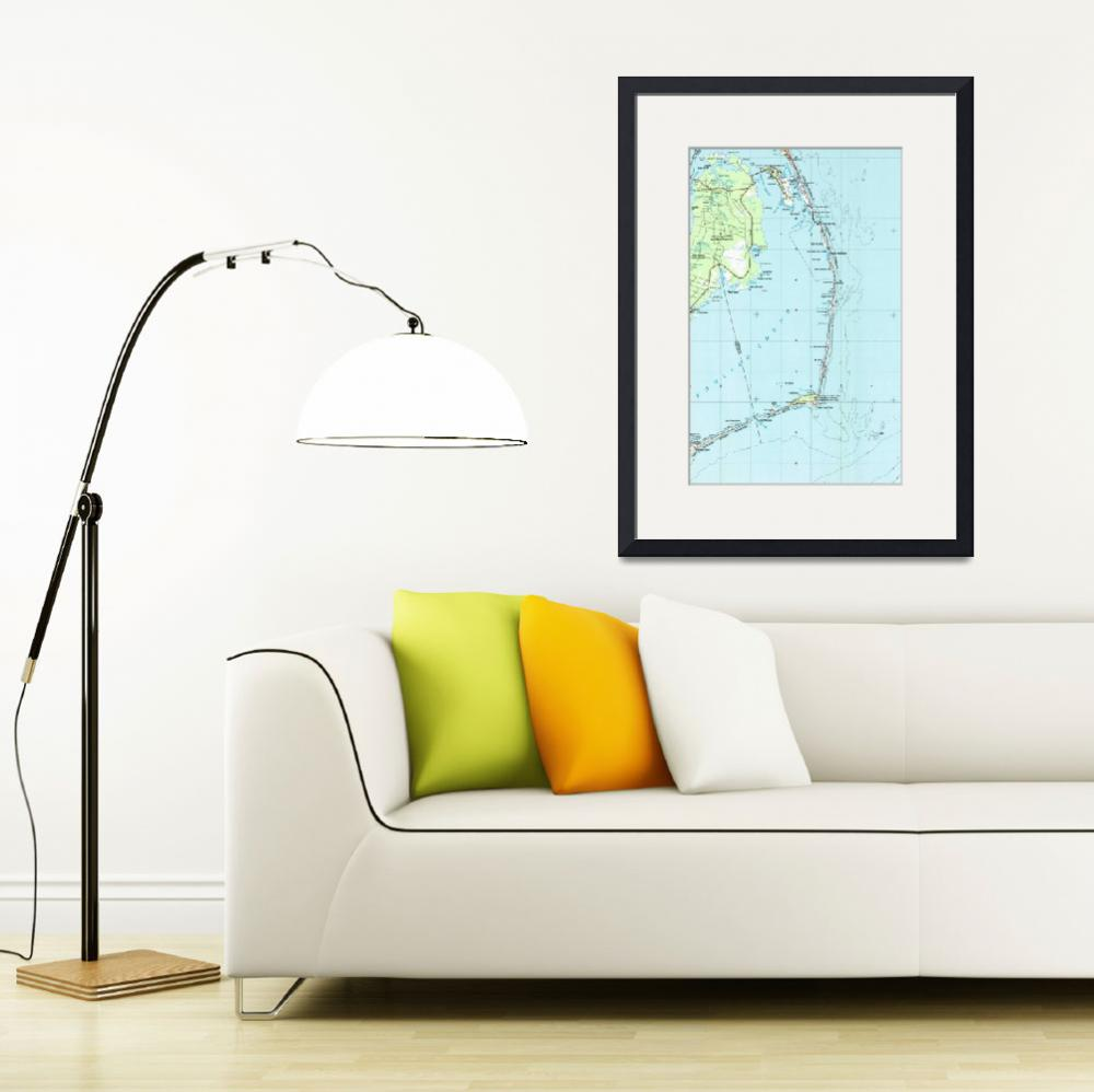 """""""Vintage Southern Outer Banks Map (1957)&quot  by Alleycatshirts"""