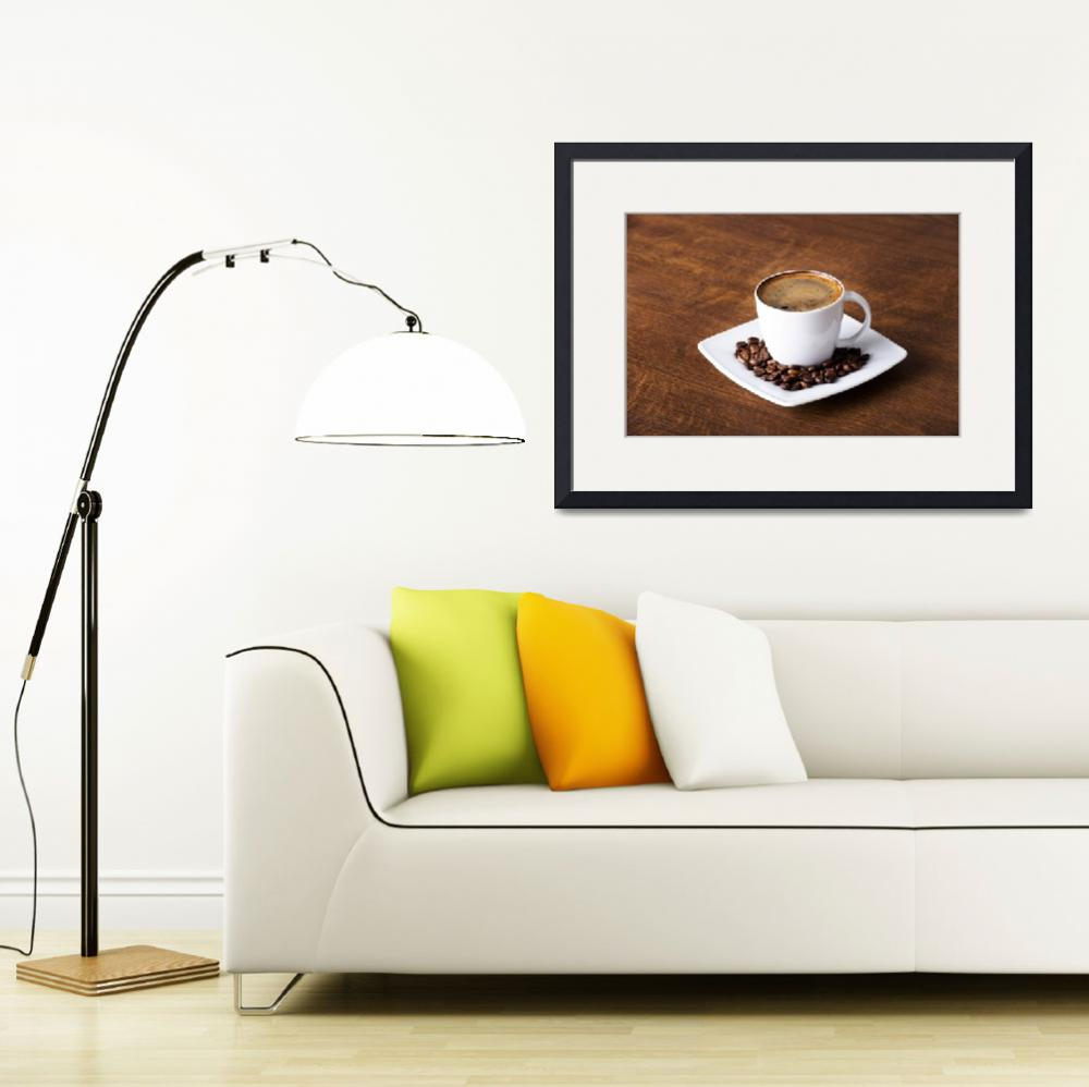 """""""Coffee beans and coffee cup&quot  by Piotr_Marcinski"""