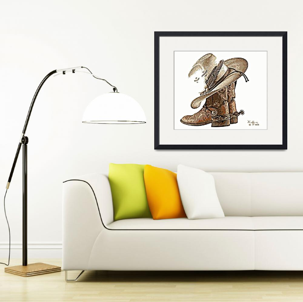 """""""Boots, Hat & Spurs&quot  (2016) by davegafford"""