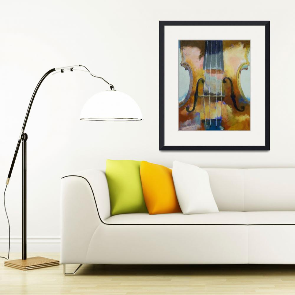"""""""Violin Painting""""  by creese"""