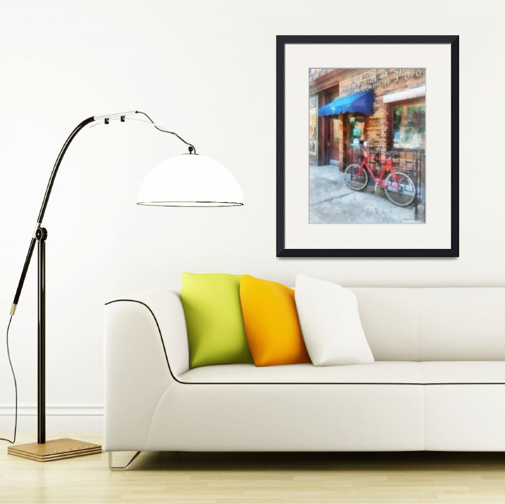 """Hoboken NJ - Bicycle by Post Office&quot  by susansartgallery"