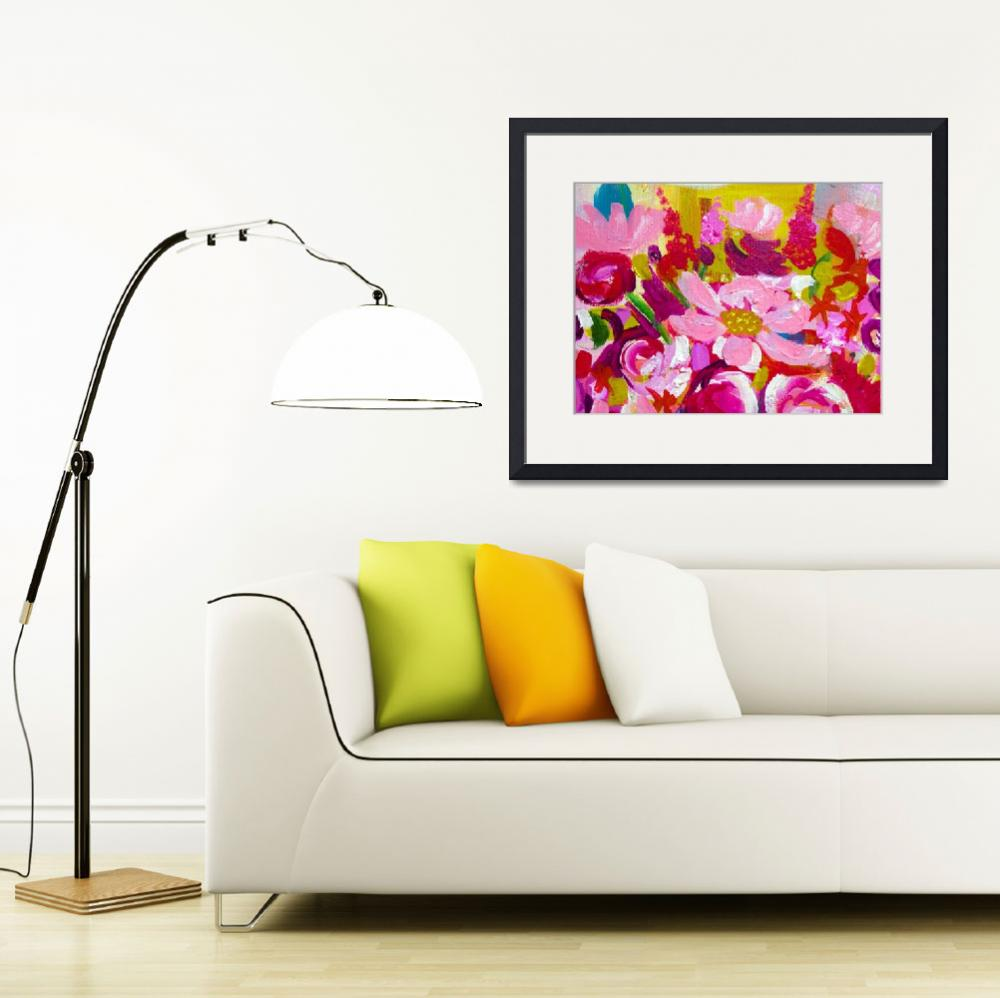 """""""Floral Painting in Hot Pink""""  (2012) by TheArtwerks"""