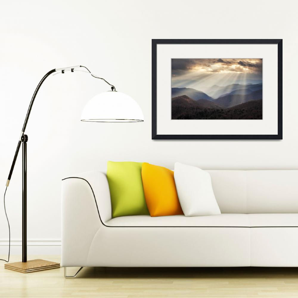 """""""Crepuscular Light Rays on Blue Ridge Parkway - Ray&quot  (2012) by DAPhoto"""