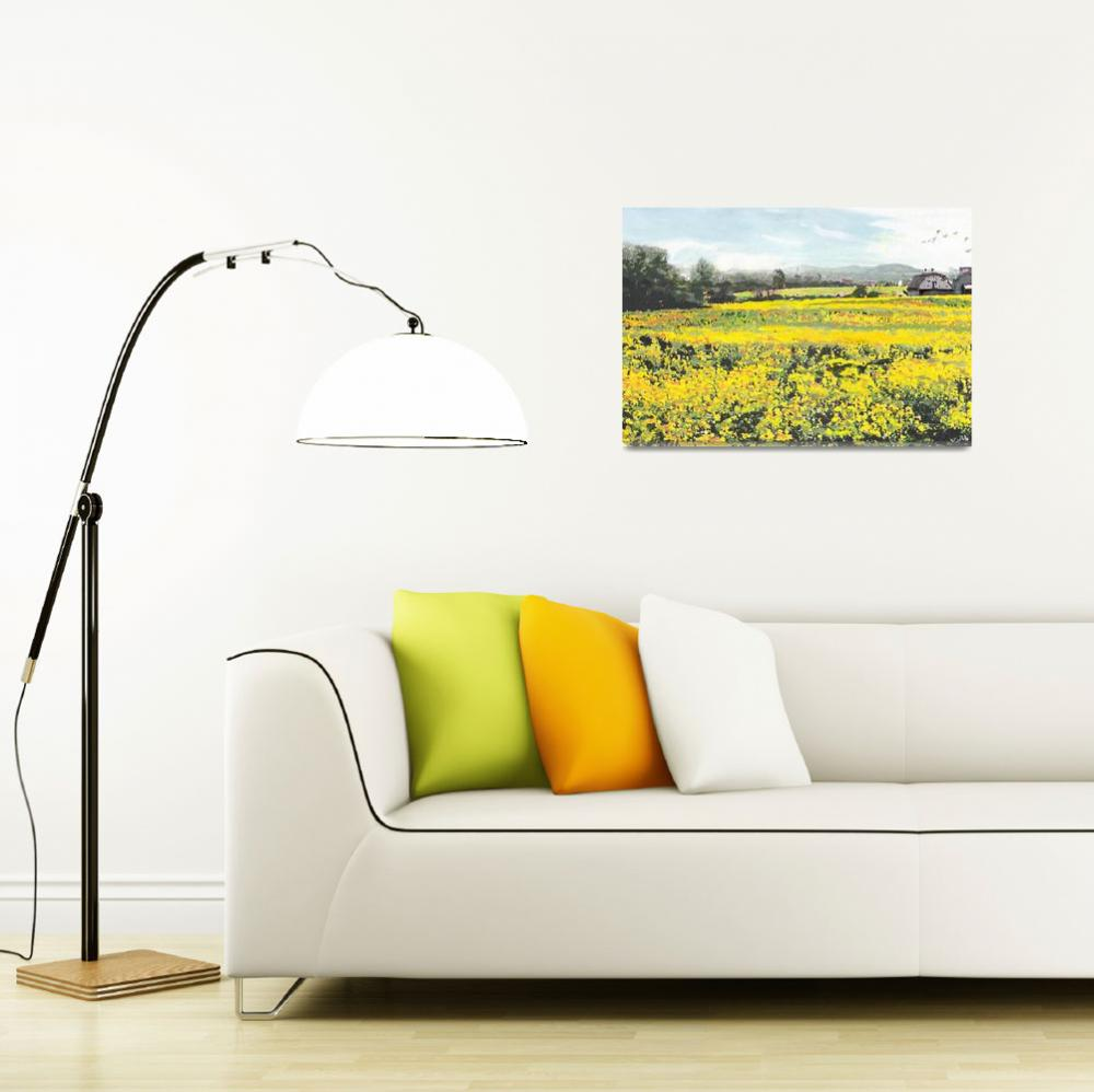 """""""SPRING COLORS YELLOW MUSTARD FIELDS MARYLAND LANDS&quot  by grl"""