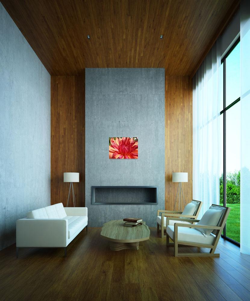 """""""Dahlia Flower Floral art prints Orange Red Dahlias&quot  (2011) by BasleeTroutman"""