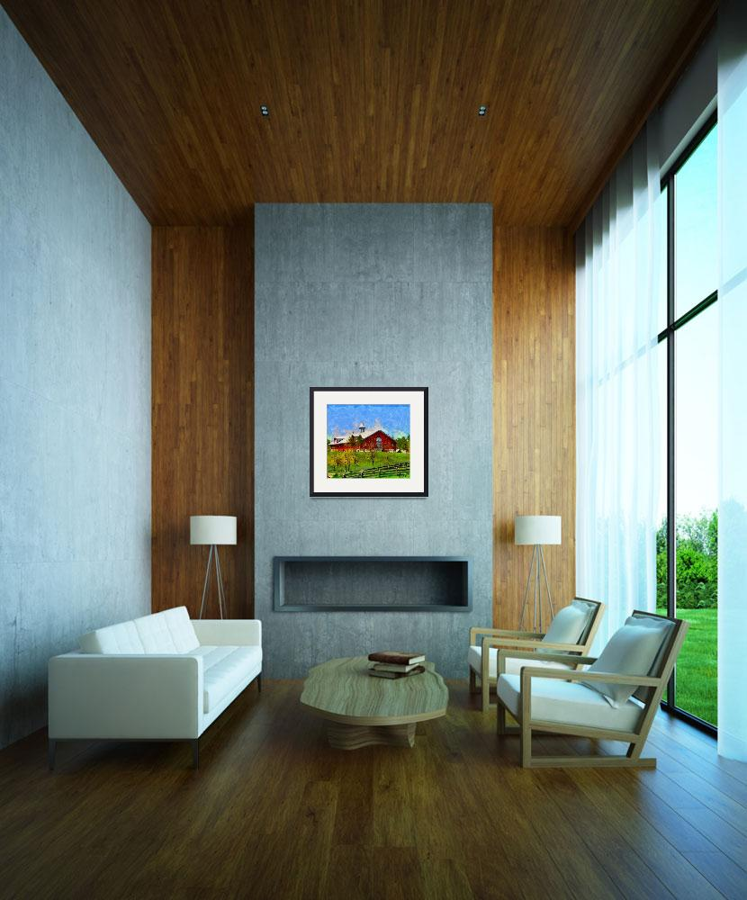"""""""Painting with house in Caledon""""  (2012) by DiNovici"""