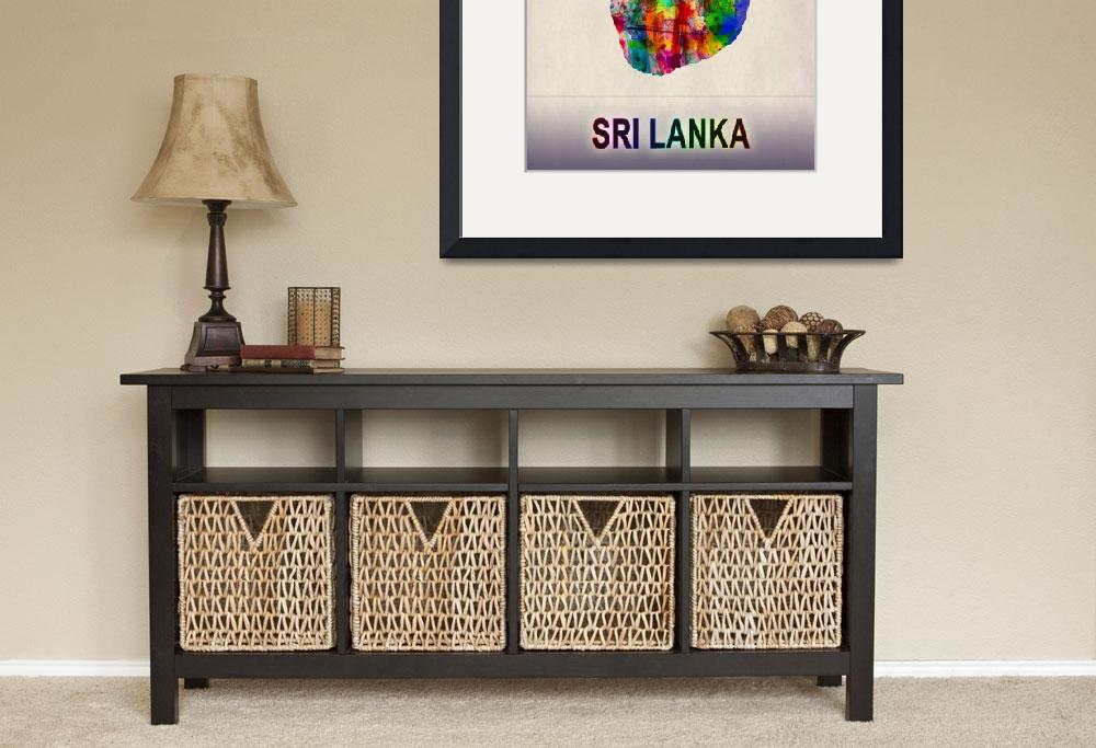 """""""Sri Lanka Map""""  by Towseef"""