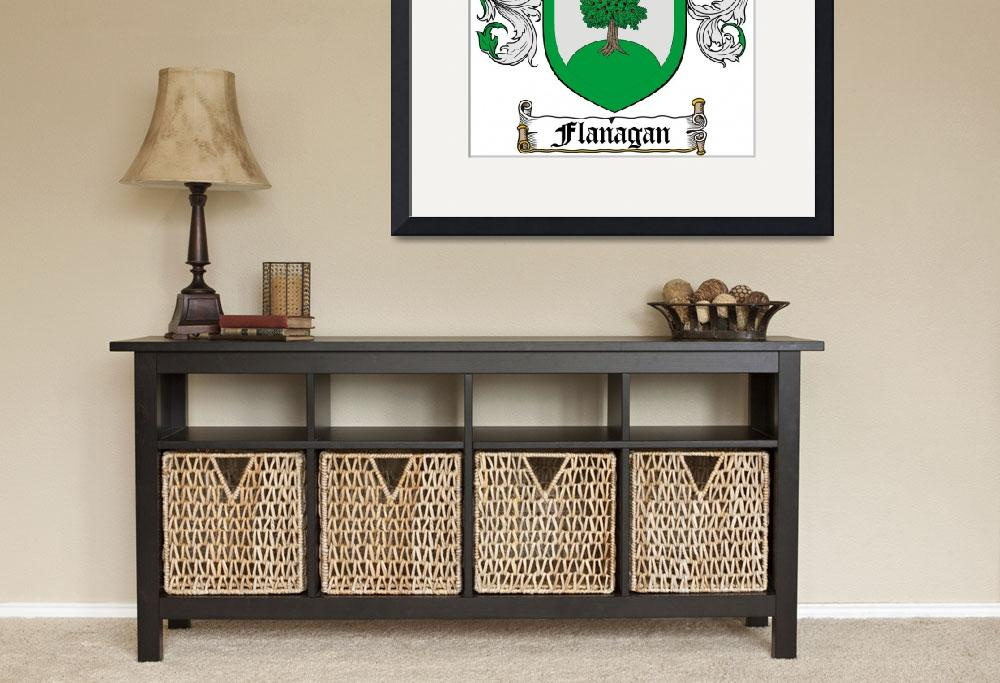 """""""FLANAGAN FAMILY CREST - COAT OF ARMS&quot  by coatofarms"""