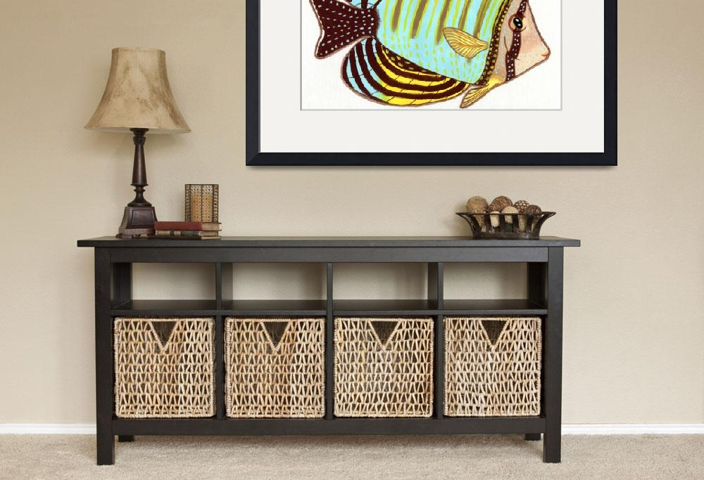 """""""Red Sea Sailfin Tang""""  (2015) by FeamiHuX"""