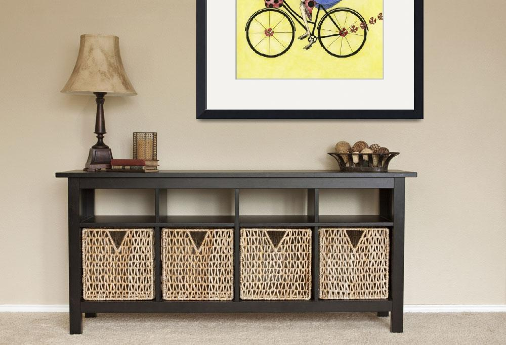 """""""Illustration....bike whimsy&quot  (2010) by chowarddesigns"""